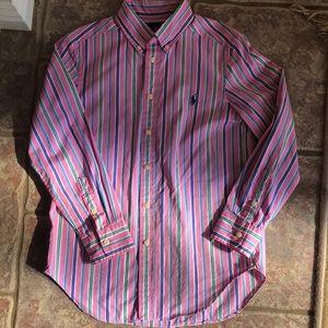 Perfect Polo Ralph Lauren LS shirt sz M (10-12)